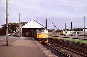 Wick railway station - Wick station, August 1980 under British Rail.