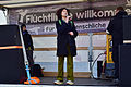 Wien - Demo Flüchtlinge willkommen - Alev Korun.jpg
