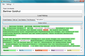 Deutsch: WikiHistory-Screenshot