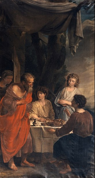 Willem Jacob Herreyns - Abraham visited by the three Angels