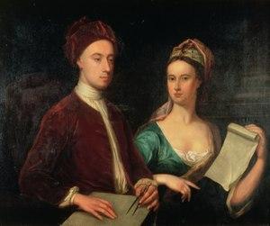 Dorothy Boyle, Countess of Burlington - William Aikman, Rt. Hon. Richard Boyle and Lady Dorothy Savile, 1723, Harris Museum and Art Gallery, Preston, Lancashire