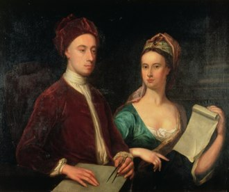 Dorothy Boyle, Countess of Burlington - William Aikman, Rt. Hon. Richard Boyle and Lady Dorothy Savile, 1723, Harris Museum and Art Gallery, Preston, Lancashire