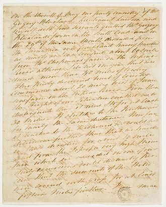 William Wentworth - William Charles Wentworth – Journal of his expedition across the Blue Mountains. Held at the State Library of New South Wales.