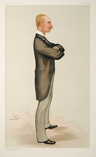 William Walrond, 1st Baron Waleran - Walrond caricatured by Lib in Vanity Fair, 1886
