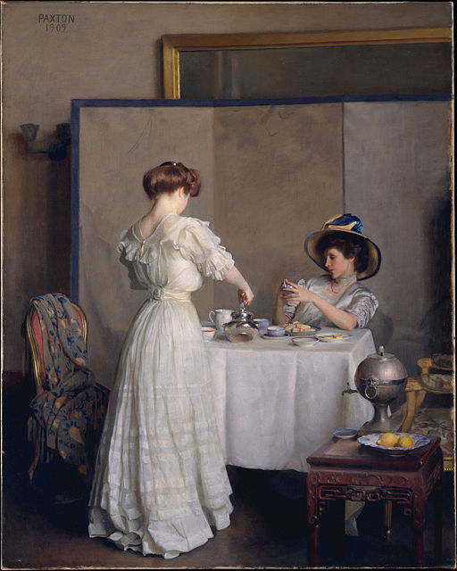 """Tea Leaves"" by William McGregor Paxton"