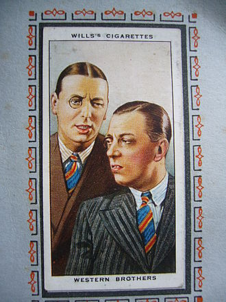 The Western Brothers - Kenneth and George Western- photo of Wills's cigarette card circa 1934