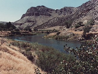 Wind River (Wyoming) - Wind River Canyon downstream from Boysen Dam