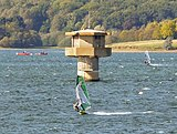 Limnological tower in Rutland Water, England