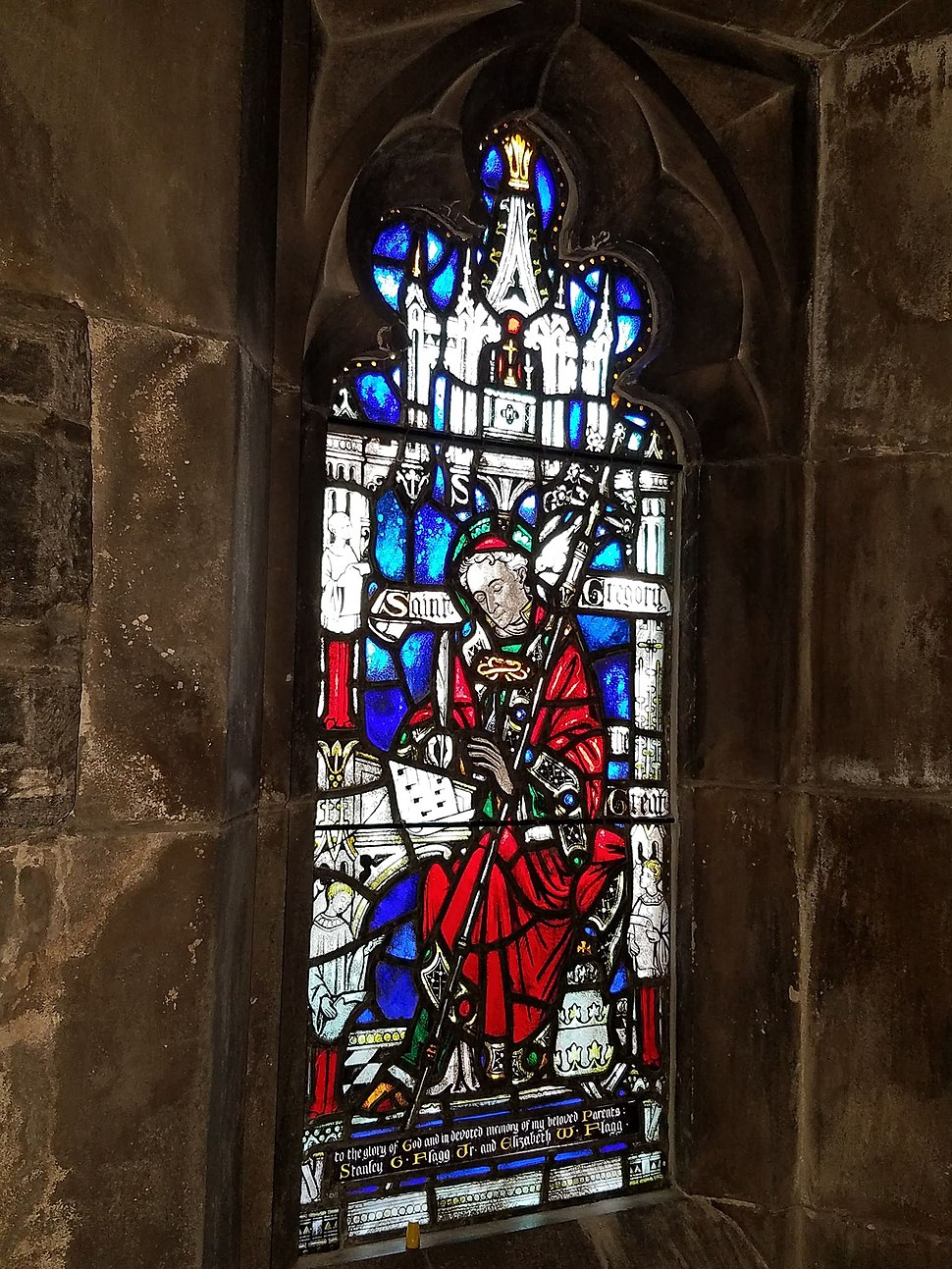 Window, St. Gregory the Great, Church of the Good Shepherd (Rosemont, Pennsylvania)