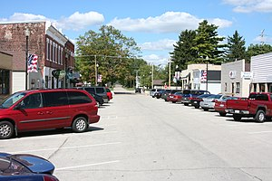 Winnebago, Illinois - Looking on the main street of Winnebago