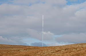 Winter Hill transmitting station - Image: Winterhillmast