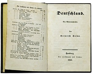 Germany. A Winter's Tale - First edition, published in 1844