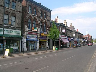Withington suburb of Manchester, England