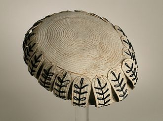 Toque - Woman's toque from England, c. 1860 at the collection of Los Angeles County Museum of Art