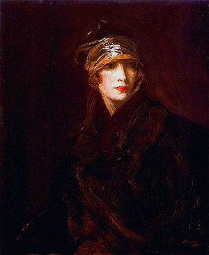 John Lavery - Woman with golden turban, Hazel Lavery née Hazel Martyn
