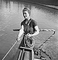 Women Run a Boat- Life on Board the Canal Barge 'Heather Bell', 1942 D7653.jpg
