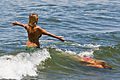Women in bikini swim suits - Morro Bay, California - June 2008.jpg