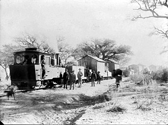 South West African Jung - Image: Work train at Ababis