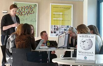 "Swedish Centre for Architecture and Design - Workshop at ""Meet Wikipedia"" in ArkDes, 2014"