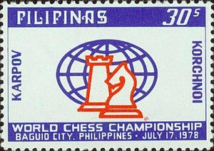 World Chess Championship 1978 - World Chess Championship 1978 on a stamp of the Philippines