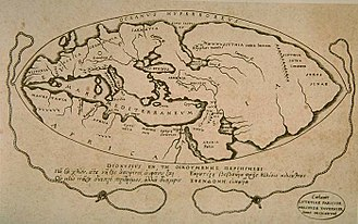 Early world maps - A 1628 reconstruction of Posidonius ideas about the positions of continents (many details couldn't have been known by Posidonius)