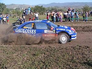 Xavier Pons driving his Citroën Xsara WRC at t...