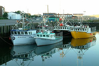 American lobster - Fishing boats in Yarmouth, Nova Scotia