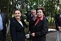 Yelena Serova and Valentina Tereshkova in Star City, Russia.jpg