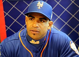 Yoenis Cespedes talks to reporters on -WSMediaDay (22277754414).jpg