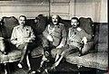 Yusefovich, Denikin, Markov in Mogilyov, 1917.jpg