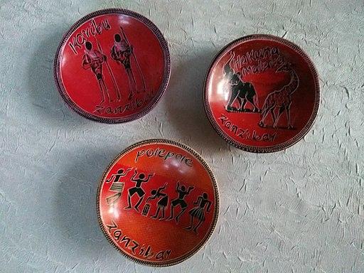 Zanzibar souvenir plates