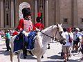 Zaragoza - Turistas y Figurantes vestidos de soldados de la Guerra de la Independencia 05.jpg