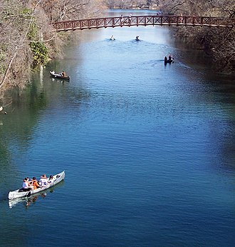 Barton Creek - Image: Zilker canoe