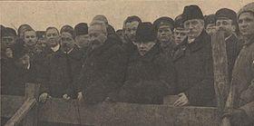 Les membres du gouvernement provisoire.