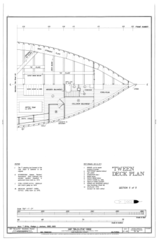 'Tween Deck Plan, Section 5 of 5 - Ship BALCLUTHA, 2905 Hyde Street Pier, San Francisco, San Francisco County, CA HAER CAL,38-SANFRA,200- (sheet 27 of 69).png