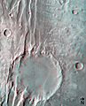 (6) Disrupted crater at Acheron Fossae in 3D ESA238276.jpg