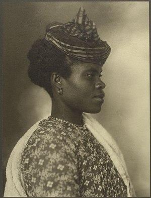 """Guadeloupe - """"Guadeloupean woman"""", c. 1911."""