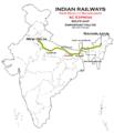 (New Delhi - Naharlagun) AC Express route map.png