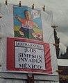 «Los Simpson invaden México» - Protesta contra reforma energética de Felipe Calderón - CDMX 2008.jpg