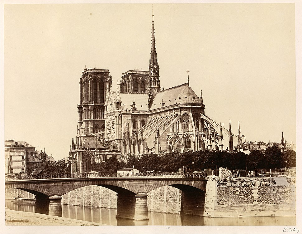 Édouard Baldus, Notre-Dame (Abside), 1860s - Metropolitan Museum of Art