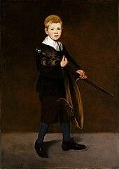 Boy Carrying a Sword