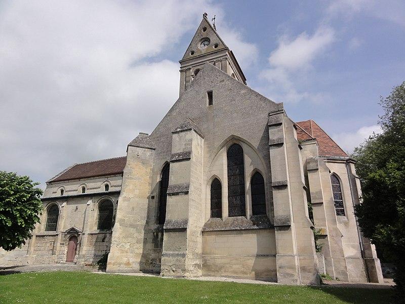 Église Notre-Dame de Vic-sur-Aisne, vue de la base.