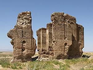 Üçayak Byzantine Church - The ruins of the Üçayak Byzantine Church. The decorative niches on its exterior walls are visible.