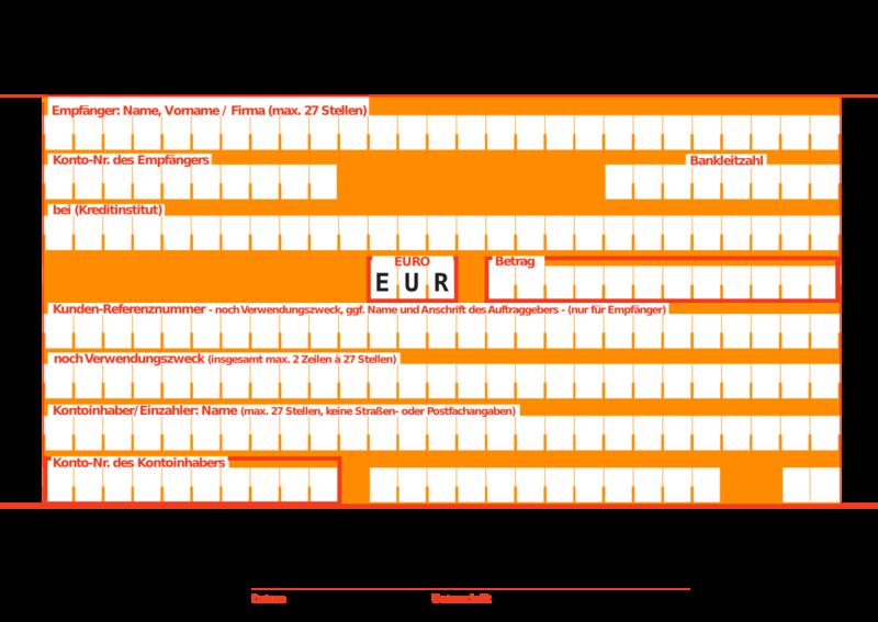 elektronische überweisung