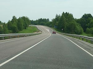 Rzhevsky District - The M9 highway in Rzhevsky District