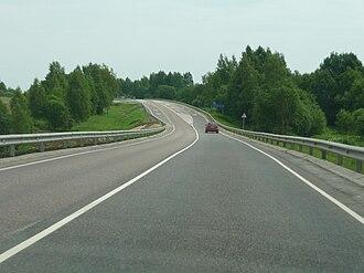 Rzhevsky District - The M9 highway in Rzhevsky District
