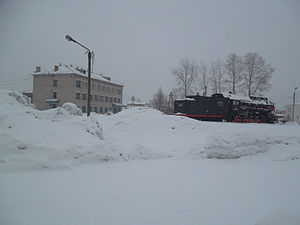 Mikun - A train in Mikun