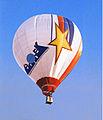 """Первый отечественный аэростат Аэровек в полёте на соревнования """"Fraternite 89"""" 4 августа 1989 г. Франция. Фото Л. Горянского.jpg"""