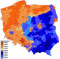 Прэзыдэнцкія выбары ў Польшчы 2010 году І тур.png