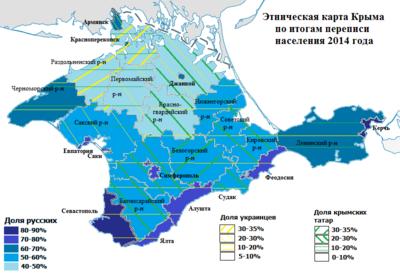Население Крыма Википедия Карта расселения русских украинцев и крымских татар Крыма 2014